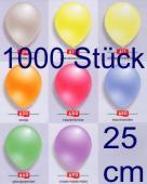 Luftballons Latex 25cm Ø Perlmutt 1.000 Stück (LRPEF 25/1000T)